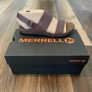 Merrell Around Town Luxe Backstrap Leather Sandals